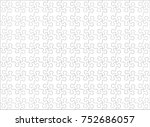jigsaw puzzle blank template or ... | Shutterstock .eps vector #752686057