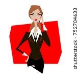 stylish businesswoman stylish