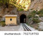 the old train rail in vouraikos ... | Shutterstock . vector #752719753