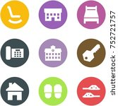 origami corner style icon set   ... | Shutterstock .eps vector #752721757