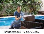 washing house windows   Shutterstock . vector #752729257