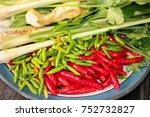 mix ingredients of tom yum  | Shutterstock . vector #752732827