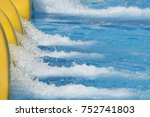 water entering swimming pool... | Shutterstock . vector #752741803