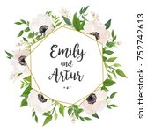 wedding invite  invitation ... | Shutterstock .eps vector #752742613