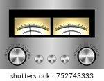 vintage integrated stereo...   Shutterstock .eps vector #752743333