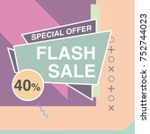 super sale modern banner in the ... | Shutterstock .eps vector #752744023