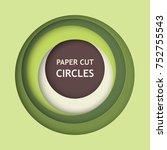 abstract 3d paper cut...   Shutterstock .eps vector #752755543