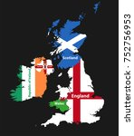 countries of british isles ... | Shutterstock .eps vector #752756953