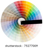 colorful circle swatch with