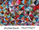 quilt with distinct color... | Shutterstock . vector #752777077