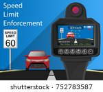 handheld speed radar lidar... | Shutterstock .eps vector #752783587