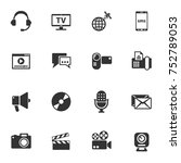 media vector icons for your... | Shutterstock .eps vector #752789053