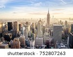 new york at sunset | Shutterstock . vector #752807263