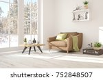 white room with armchair and... | Shutterstock . vector #752848507