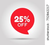 special offer sale red tag.... | Shutterstock .eps vector #752862217