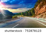 highway to destiny.tranquility... | Shutterstock . vector #752878123