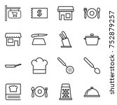 thin line icon set   shop... | Shutterstock .eps vector #752879257