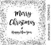 merry christmas   happy new... | Shutterstock .eps vector #752909413