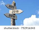 2018   signpost  roadsign | Shutterstock . vector #752916343
