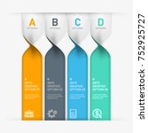 infographic banner template for ... | Shutterstock .eps vector #752925727