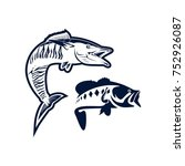 design logo fish vector  ... | Shutterstock .eps vector #752926087