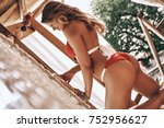 impossible to resist her beauty.... | Shutterstock . vector #752956627
