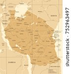 tanzania map   vintage detailed ... | Shutterstock .eps vector #752963497