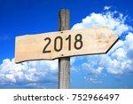 2018   signpost  roadsign | Shutterstock . vector #752966497
