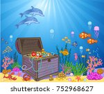 Treasure Chest In Underwater....