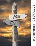 2018   signpost  roadsign | Shutterstock . vector #752971123