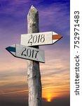 2018   signpost  roadsign | Shutterstock . vector #752971483