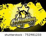 wrestling design logo sport | Shutterstock . vector #752981233