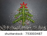 christmas background with... | Shutterstock . vector #753003487