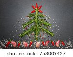 christmas cooking with spices... | Shutterstock . vector #753009427