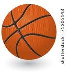 basketball ball   Shutterstock .eps vector #75305143