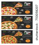 pizza pizzeria flyer vector... | Shutterstock .eps vector #753058207