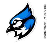 Blue Jay Bird Mascot Logo