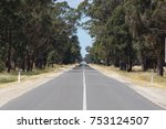 straight line australian rural...   Shutterstock . vector #753124507