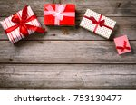 merry christmas. decoration for ... | Shutterstock . vector #753130477