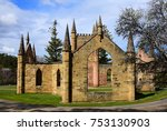 picturesque ruins of the gothic ... | Shutterstock . vector #753130903
