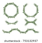 vector  decorative big element... | Shutterstock .eps vector #753132937