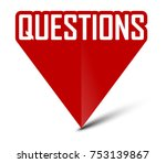 red banner questions | Shutterstock .eps vector #753139867