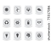 ice square energy icons | Shutterstock .eps vector #75317086
