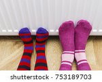 woman and child wearing... | Shutterstock . vector #753189703