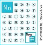 worksheet. alphabet activity... | Shutterstock .eps vector #753205723