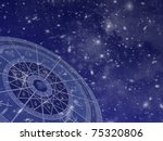 Zodiac Circle Overlaid On Star...