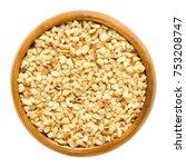 hazelnut kernels  roughly... | Shutterstock . vector #753208747