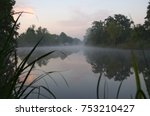 Early Morning At River Elbe In...