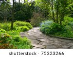 stone pathway passing through a ... | Shutterstock . vector #75323266
