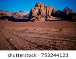 wadi rum at night | Shutterstock . vector #753244123
